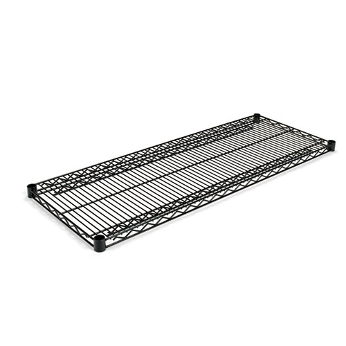 Industrial Wire Shelving Extra Wire Shelves, 48w x 18d, Black, 2 Shelves/Carton. Picture 1