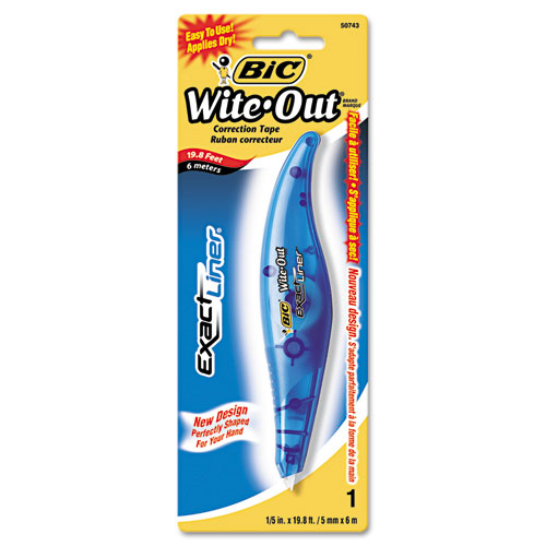 """Wite-Out Brand Exact Liner Correction Tape, Non-Refillable, Blue, 1/5"""" x 236"""". Picture 2"""