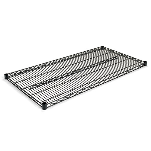 Industrial Wire Shelving Extra Wire Shelves, 48w x 24d, Black, 2 Shelves/Carton. Picture 1
