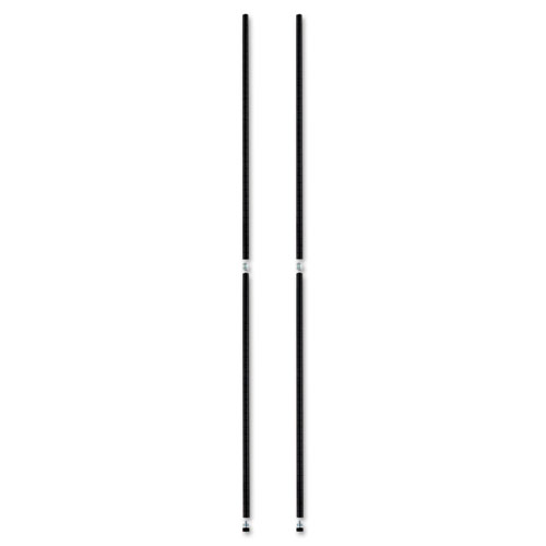 """Stackable Posts For Wire Shelving, 36 """"High, Black, 4/Pack. Picture 2"""