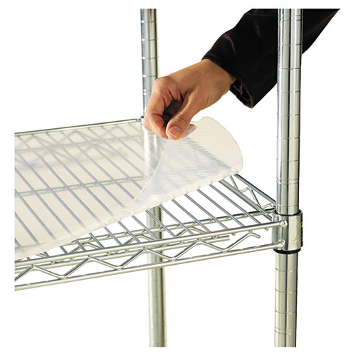Shelf Liners For Wire Shelving, Clear Plastic, 48w x 24d, 4/Pack. Picture 1