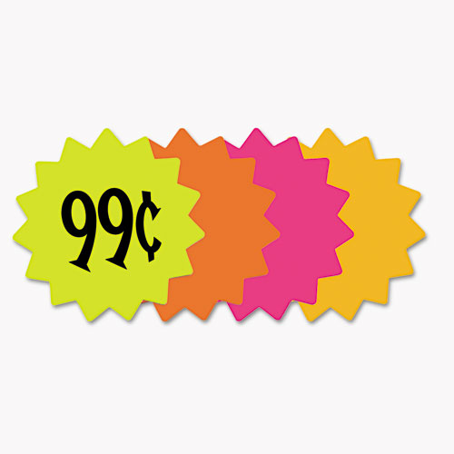 """Die Cut Paper Signs, 4"""" Round, Assorted Colors, Pack of 60 Each. Picture 1"""