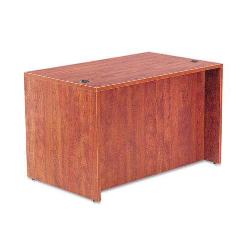 "Alera Valencia Series Straight Front Desk Shell, 47.25"" x 29.5"" x 29.63"", Medium Cherry. Picture 2"