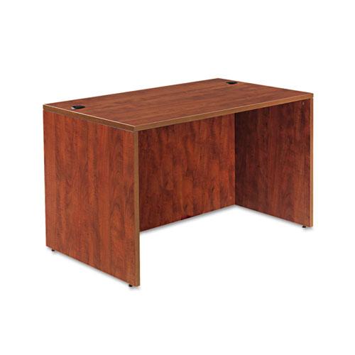 "Alera Valencia Series Straight Front Desk Shell, 47.25"" x 29.5"" x 29.63"", Medium Cherry. Picture 1"