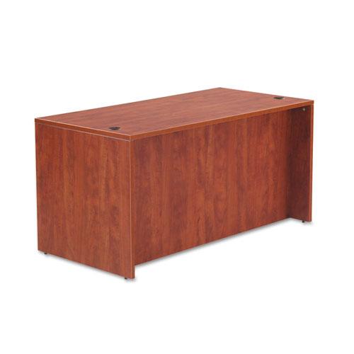 "Alera Valencia Series Straight Front Desk Shell, 59.13"" x 29.5"" x 29.63"", Medium Cherry. Picture 2"