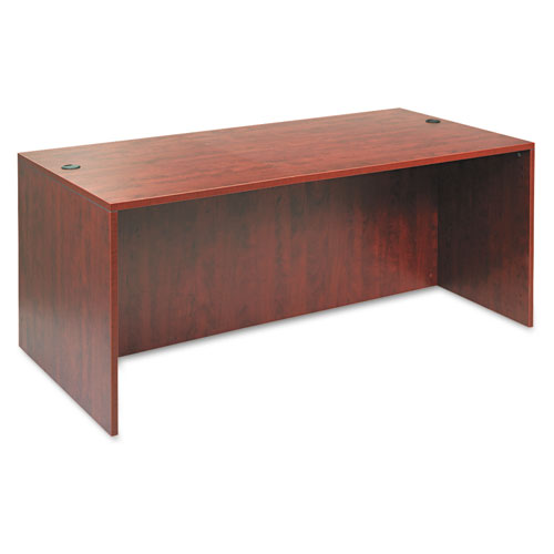 "Alera Valencia Series Straight Front Desk Shell, 71"" x 35.5"" x 29.63"", Medium Cherry. Picture 1"