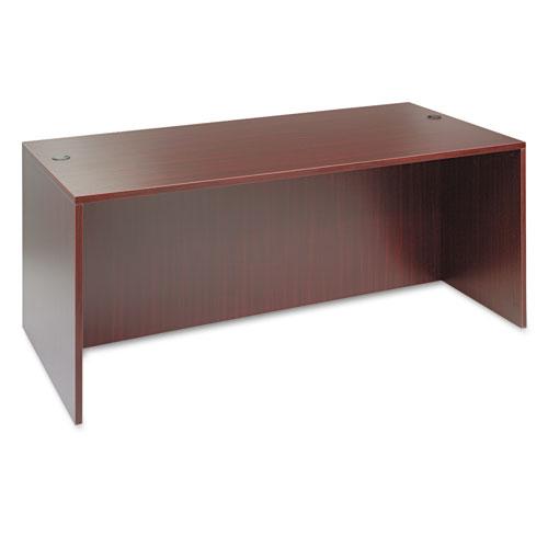 "Alera Valencia Series Straight Front Desk Shell, 71"" x 35.5"" x 29.63"", Mahogany. Picture 1"