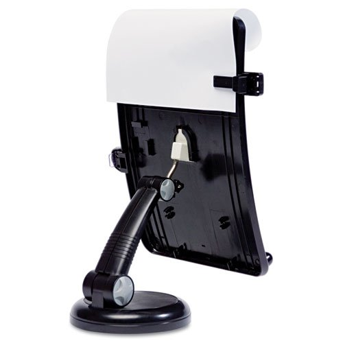 Copyholder with Curved Tray and Weighted Base, 75 Sheet Capacity, Black. Picture 3