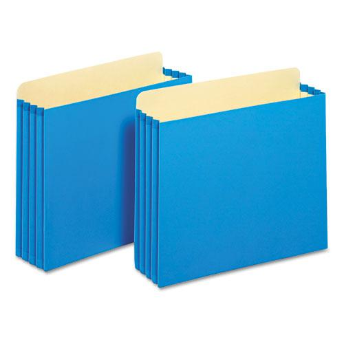 "File Cabinet Pockets, 3.5"" Expansion, Letter Size, Blue, 10/Box"
