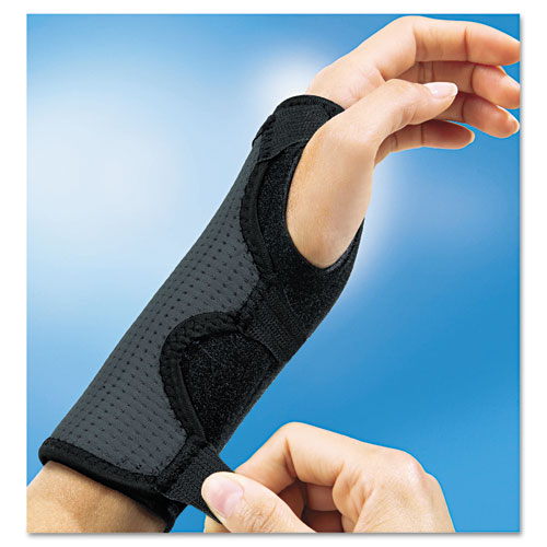 adjustable reversible splint wrist brace fits wrists 5 1 2 8 1 2 black. Black Bedroom Furniture Sets. Home Design Ideas