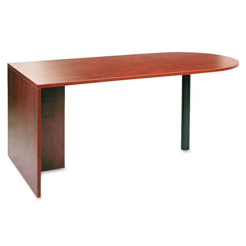 "Alera Valencia Series D-Top Desk, 71"" x 35.5"" x 29.63"", Medium Cherry. Picture 1"