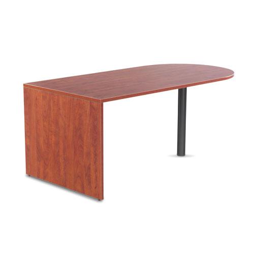 "Alera Valencia Series D-Top Desk, 71"" x 35.5"" x 29.63"", Medium Cherry. Picture 2"