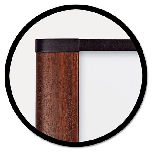 Melamine Dry Erase Board, 72 x 48, Mahogany Frame. Picture 2