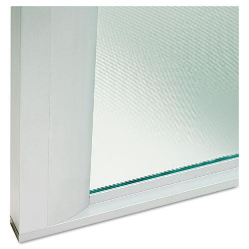 """Glass Door Set With Silver Frame For 72"""" Wide Hutch, 17w x 16h, Clear, 4 Doors/Set. Picture 2"""