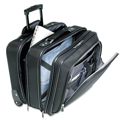 Mobile Office Rolling Notebook Case, Nylon, 17 1/2 x 9 x 14, Black. Picture 2