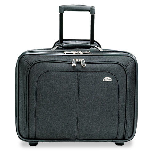 Mobile Office Rolling Notebook Case, Nylon, 17 1/2 x 9 x 14, Black. Picture 1