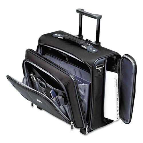Side Loader Office Rolling Laptop Case, Nylon, 17 1/2 x 7 1/2 x 15, Black. Picture 1