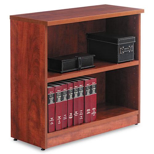 Alera Valencia Series Bookcase, Two-Shelf, 31 3/4w x 14d x 29 1/2h, Med Cherry. Picture 1