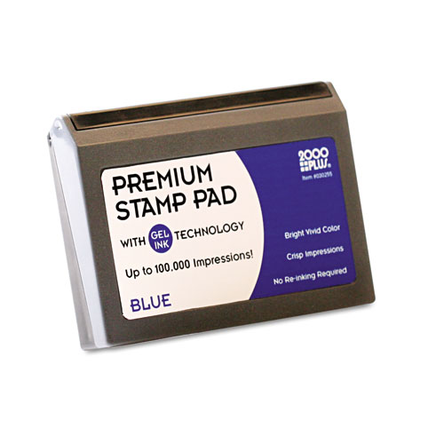 Microgel Stamp Pad for 2000 PLUS, 2 3/4 x 4 1/4, Blue. Picture 2