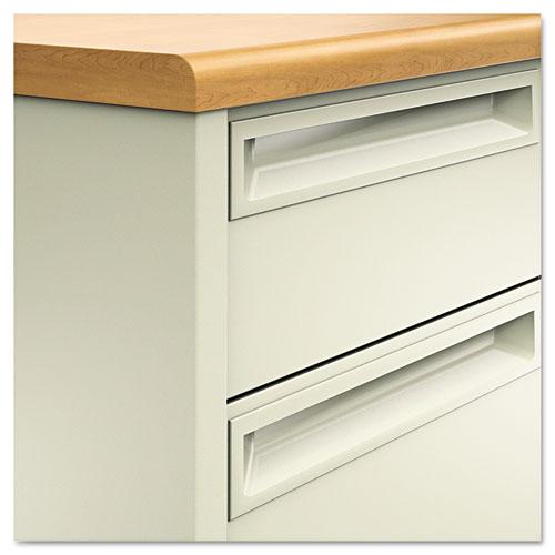 38000 Series Double Pedestal Desk, 72w x 36d x 29.5h, Harvest/Putty. Picture 3