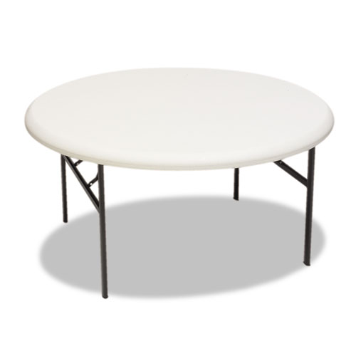 """Iceberg IndestrucTable TOO 1200 Series Folding Table, 60"""" Round, Platinum. Picture 1"""