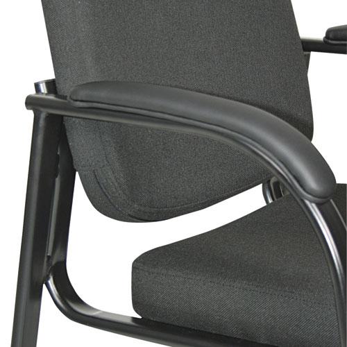 "Alera Genaro Series Half-Back Sled Base Guest Chair, 24.63"" x 26.63"" x 34"", Black Seat/Black Back, Black Base. Picture 3"