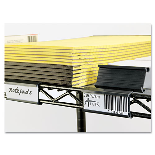 """Wire Shelving Shelf Tag, 3"""" long, Gray, 10/Pack. Picture 3"""