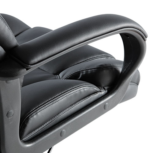 Alera Fraze Executive High-Back Swivel/Tilt Bonded Leather Chair, Supports up to 275 lbs, Black Seat/Black Back, Black Base. Picture 4