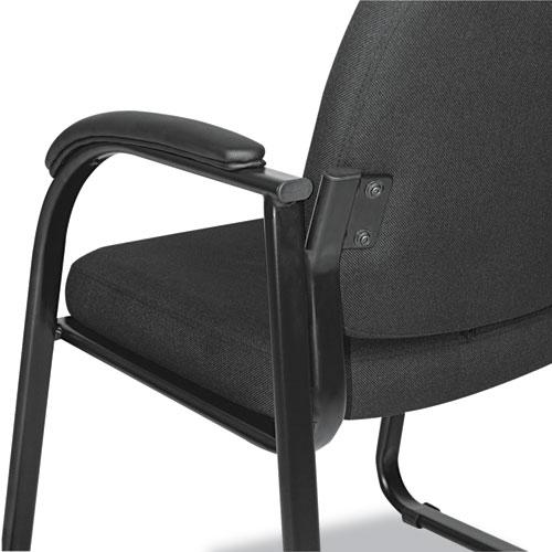 "Alera Genaro Series Half-Back Sled Base Guest Chair, 24.63"" x 26.63"" x 34"", Black Seat/Black Back, Black Base. Picture 4"