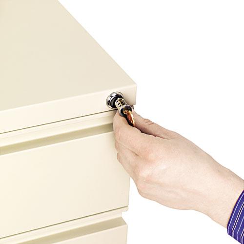 Lock Core For Metal Pedestals, Chrome, Set. Picture 2