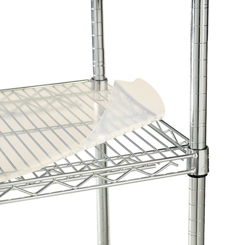 Shelf Liners For Wire Shelving, Clear Plastic, 48w x 24d, 4/Pack. Picture 2