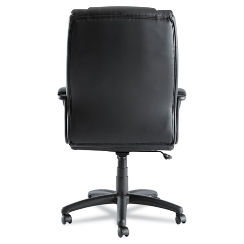 Alera Fraze Executive High-Back Swivel/Tilt Bonded Leather Chair, Supports up to 275 lbs, Black Seat/Black Back, Black Base. Picture 8