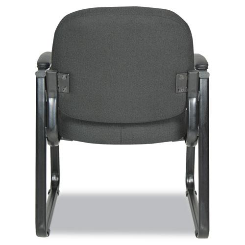 "Alera Genaro Series Half-Back Sled Base Guest Chair, 24.63"" x 26.63"" x 34"", Black Seat/Black Back, Black Base. Picture 5"