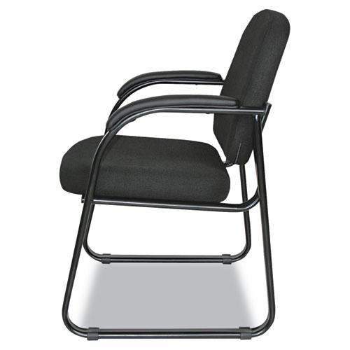 "Alera Genaro Series Half-Back Sled Base Guest Chair, 24.63"" x 26.63"" x 34"", Black Seat/Black Back, Black Base. Picture 6"
