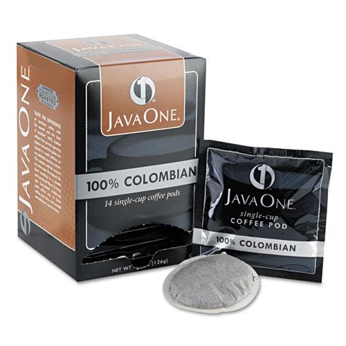Coffee Pods, Colombian Supremo, Single Cup, 14/Box. Picture 1