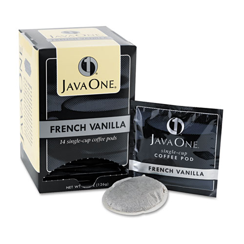 Coffee Pods, French Vanilla, Single Cup, 14/Box. Picture 1