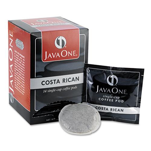 Coffee Pods, Estate Costa Rican Blend, Single Cup, 14/Box. Picture 1