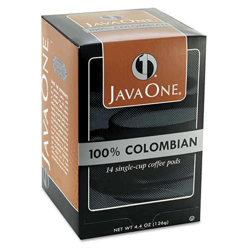 Coffee Pods, Colombian Supremo, Single Cup, 14/Box. Picture 3