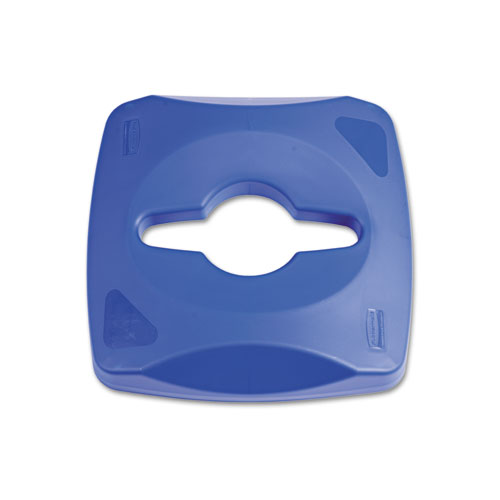 Untouchable Single Stream Recycling Top, 16.2w x 16.4d x 8.3h, Blue. Picture 1