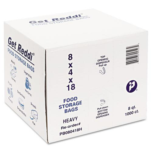 """Food Bags, 8 qt, 1 mil, 8"""" x 18"""", Clear, 1,000/Carton. Picture 2"""