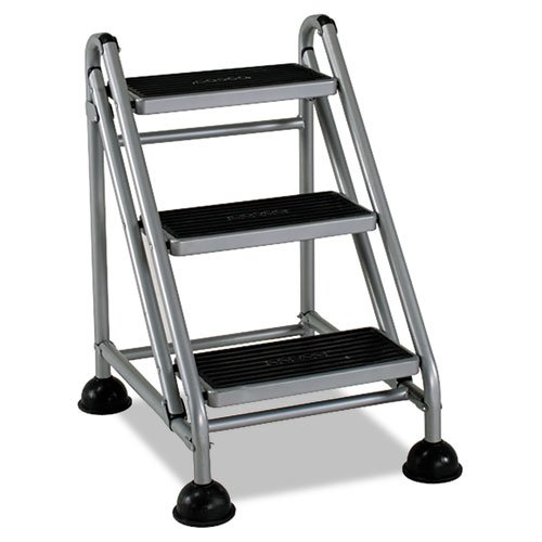 Rolling Commercial Step Stool 3 Step 26 6 Spread