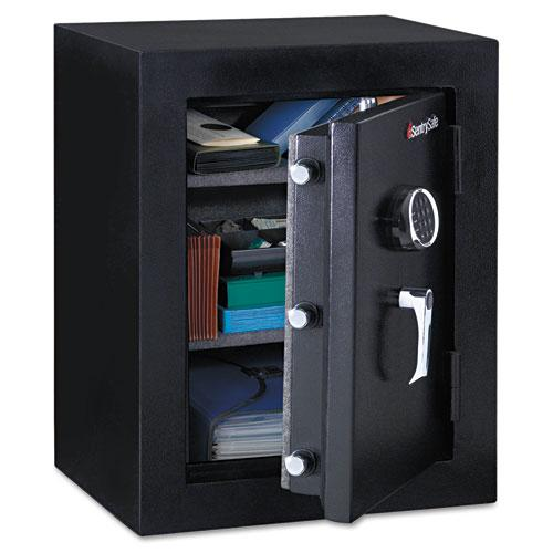 Electronic Touchscreen with Alarm Water-Resistant Fire-Safe, 2 cu ft, 18.6 x 19.3 x 23.8, Black. Picture 1