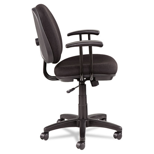 Alera Interval Series Swivel/Tilt FTask Chair, Supports up to 275 lbs, Black Seat/Black Back, Black Base. Picture 4