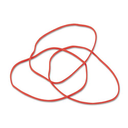 "Non-Latex Rubber Bands, Size 19, 0.04"" Gauge, Orange, 1 lb Box, 1,440/Box. Picture 2"