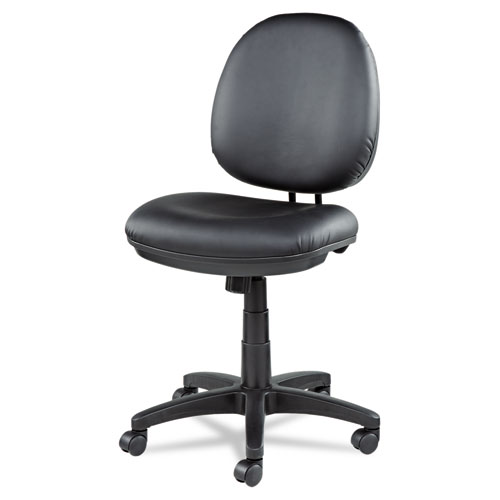 Alera Interval Series Swivel/Tilt Bonded Leather Task Chair, Supports up to 275 lbs, Black Seat/Black Back, Black Base. Picture 10