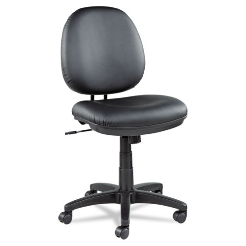 Alera Interval Series Swivel/Tilt Bonded Leather Task Chair, Supports up to 275 lbs, Black Seat/Black Back, Black Base. Picture 11
