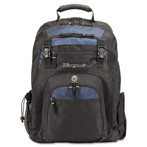 "XL Laptop Backpack 17"", Black/Blue. Picture 3"