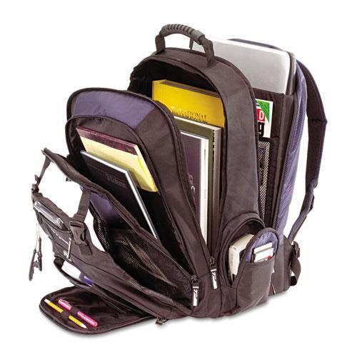 "XL Laptop Backpack 17"", Black/Blue. Picture 2"
