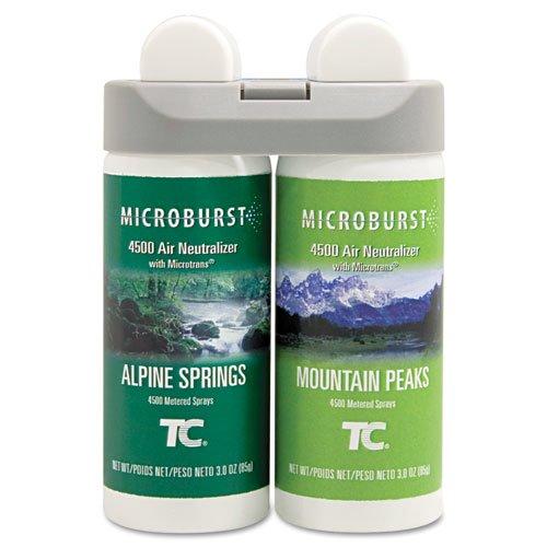 Microburst Duet Refills, Alpine Springs/Mountain Peaks, 3 oz, 4/Carton