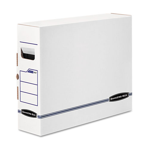"X-Ray Storage Boxes, 5"" x 18.75"" x 14.88"", White/Blue, 6/Carton"